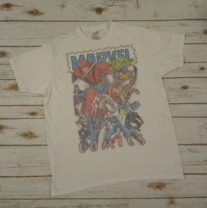 Marvel Comics White Graphic T-shirt